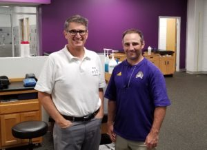 Dr. McGee with Jake Moore, ATC